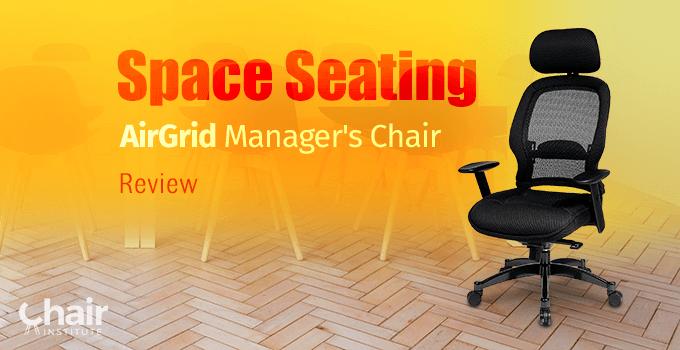 Space Seating AirGrid Manager's Chair in a contemporary room