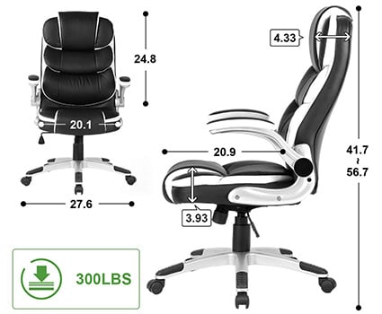 A Specification Stats of Yamasoro High Back Executive Office Chair