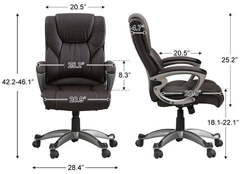 A Specification Stats of Leather Office & Gaming Chair of Yamasoro Office Chair