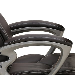 A Support Armrests of Leather Office & Gaming Chair of Yamasoro Office Chair