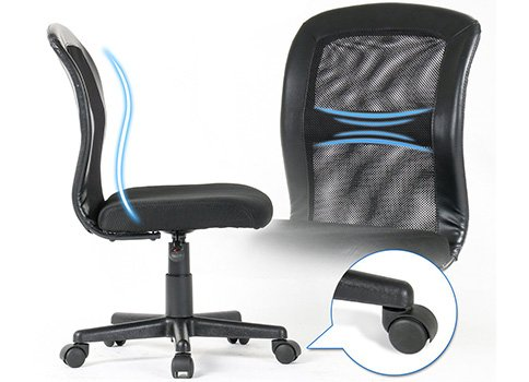 An Image of Lumbar Support of Mid Back Mesh Task for Yamasoro Office Chair