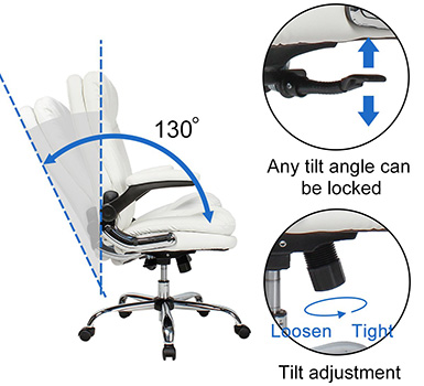 A Tilt Function Mechanism of New High Back Executive Office Chair of Yamasoro Office Chair