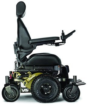 Left Image View of Magic Mobility's V6 Frontier Off Road Powerchair