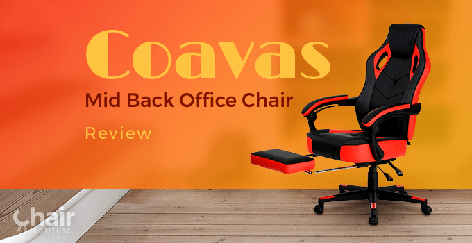 Coavas Red & Black Gaming Chair with footrest in a contemporary home