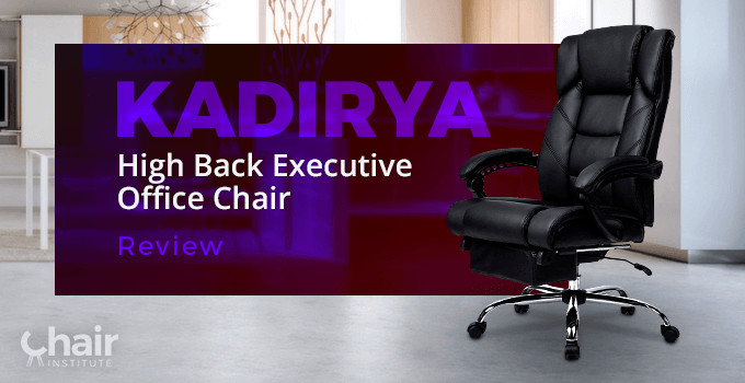 KADIRYA Reclining Leather Office Chair in a modern contemporary home