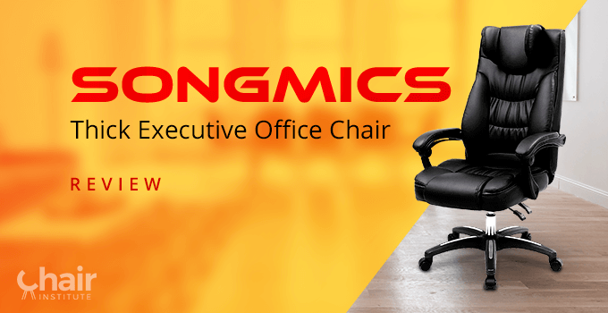 SONGMICS Thick Executive Office Chair in a contemporary home