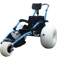 Black Blue Frame, Vipamat Hippocampe All Terrain Wheelchair with Armrests, in Left Position