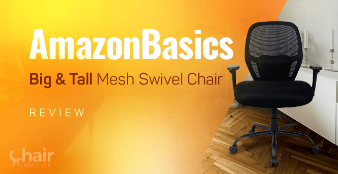 AmazonBasics Big & Tall Mesh Swivel Chair in a modern contemporary living area