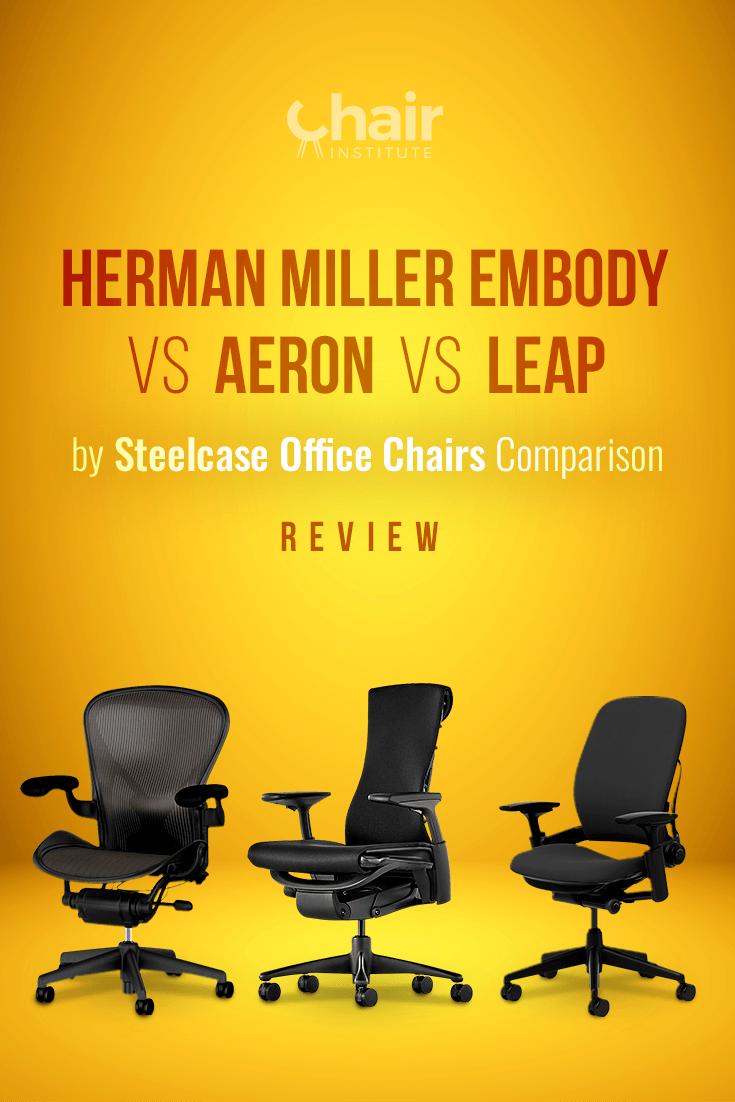 Herman Miller Embody Vs Aeron Vs Leap By Steelcase Review 2019