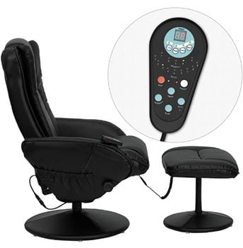 Left Image View of T&D (Flash Furniture) Massage Recliner with Remote