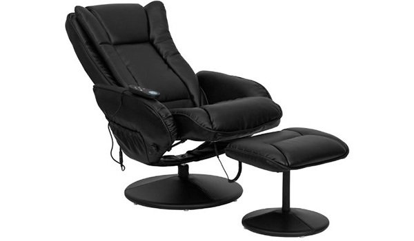 Recliner Position of T&D (Flash Furniture) Massage Recliner with Ottoman