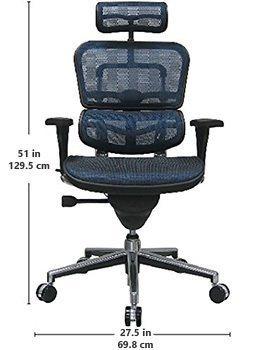 Dimensions of Ergohuman High Back Swivel Chair
