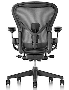 Back View of Herman Miller Aeron Office Chair