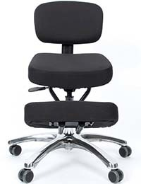 A small image of Jobri BetterPosture Jazzy Kneeling Chair in Black color Variant