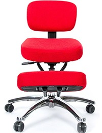 A small image of Jobri BetterPosture Jazzy Kneeling Chair in Red color Variant