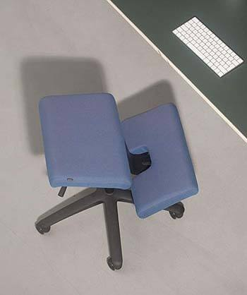 An image of Varier Wing Balans Chair in blue color