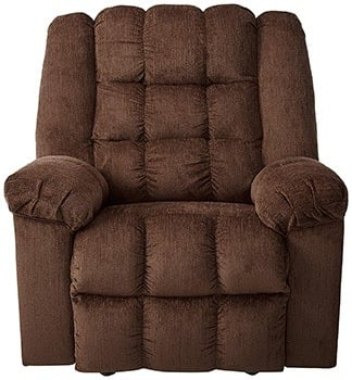 Cocoa Color, Ashley Furniture Signature Design - Ludden Rocker Recliner, in Front Position