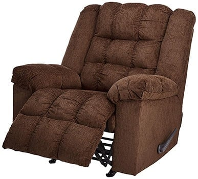 Recliner Footrest, Ashley Furniture Signature Design - Ludden Rocker Recliner, Cocoa