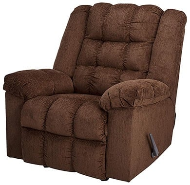 Cocoa Color, Ashley Furniture Signature Design - Ludden Rocker Recliner, in Right-Front Position