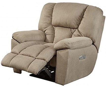 Recliner With Footrest, Catnapper Owens with Power Headrest and Lumbar Support, Doe Fabric