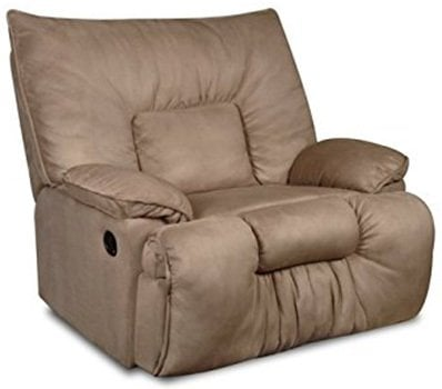 Mocha Color, Simmons Cuddler Recliner, in Left-Front Position