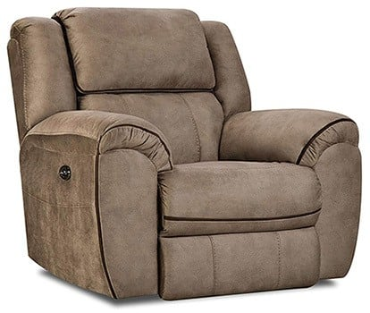 Tan Color, Simmons Osborn Power Rocker Recliner, in Left-Front Position
