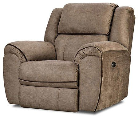 Tan Color, Simmons Osborn Power Rocker Recliner, in Right-Front Position