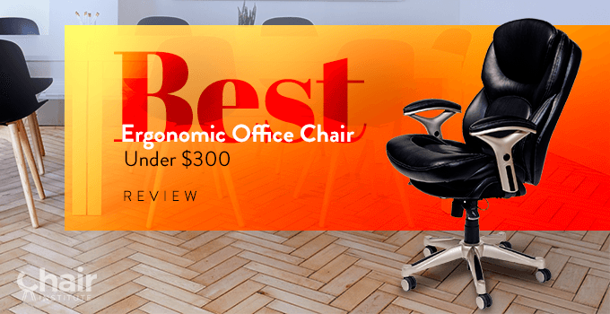 Serta Works Back In Motion Leather Office Chair in a contemporary conference room