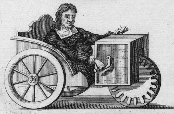 Stephan Farffler wheelchair, 1655