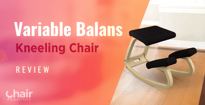 Black Variable Balans Kneeling Chair in a contemporary home
