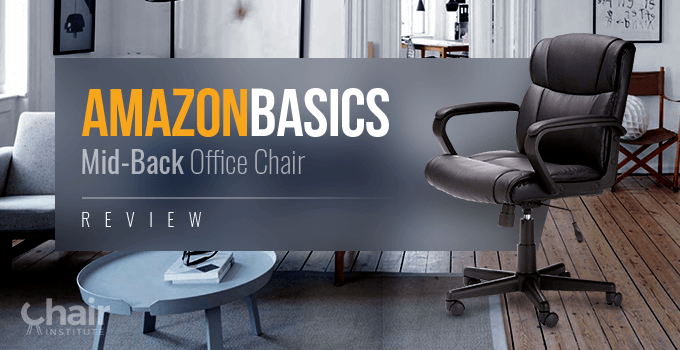 AmazonBasics Mid Back Office Chair in a contemporary living room