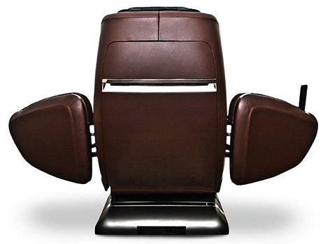 OHCO M.8 LE Massage Chair with doors open, back view