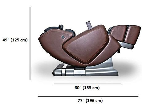 Side Dimensions Stats of OHCO M.8 Elite & LE Massage Chair
