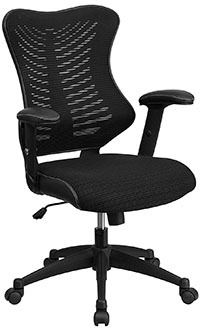 Black mesh variant of the Flash Furniture High Back Designer Mesh Swivel Chair