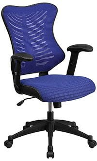 Blue mesh variant of the Flash Furniture High Back Designer Mesh Executive Swivel Chair