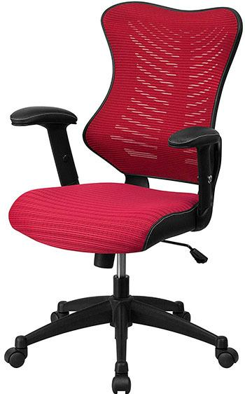 Burgundy mesh variant of the Flash Furniture High Back Designer Mesh Chair