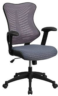 Gray mesh variant of the Flash Furniture High Back Designer Mesh Swivel Chair