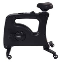 Black variant of the FlexiSpot Bike Desk without the desk tray