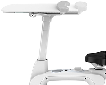 Tray of the FlexiSpot Exercise Bike Desk in white