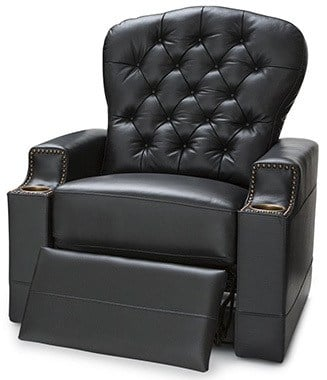 Black Variants, Seatcraft Imperial Leather Home Theater Seating, Right Position
