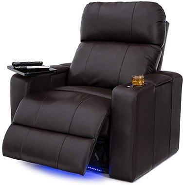 Brown Variants, Seatcraft Julius Big & Tall Home Theater Seating, Right Position