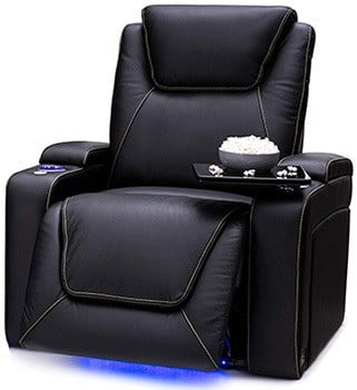 Black Variants, Seatcraft Pantheon with Power Recliner, Right Position