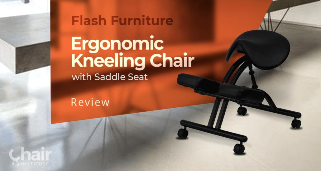 Black Flash Furniture Ergonomic Kneeling Chair with Saddle Seat
