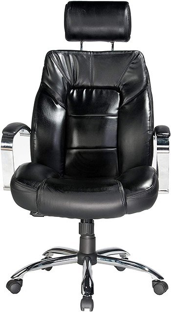 The Comfort Products Commodore II Big and Tall Leather Chair facing front