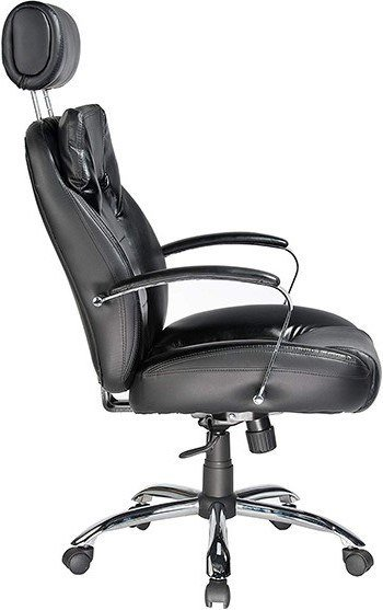 The Comfort Products Commodore II Big and Tall Leather Chair facing the right side