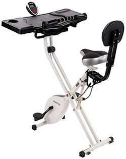 The FitDesk Bike Desk 2.0 with pedal straps