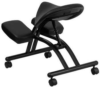 Back part of the Flash Furniture Ergonomic Kneeling Chair With Saddle Seat