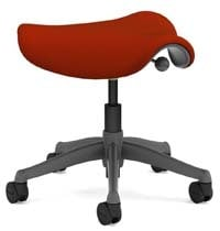 A smaller image of Humanscale Freedom Stool in cayenne color