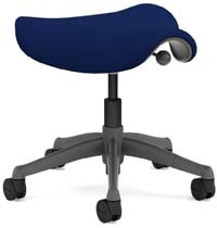 A smaller image of Humanscale Freedom Stool in Navy Blue color