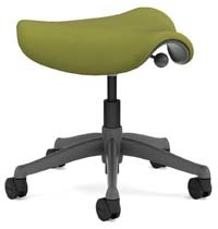 A smaller image of Humanscale Freedom Stool in Sage color